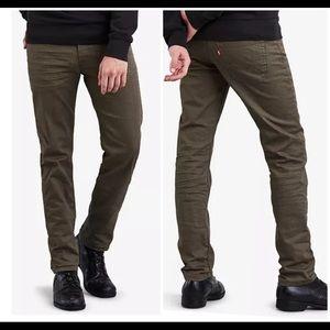 Levi's 511 Slim Fit Men's Commuter Jeans-Dark Grn